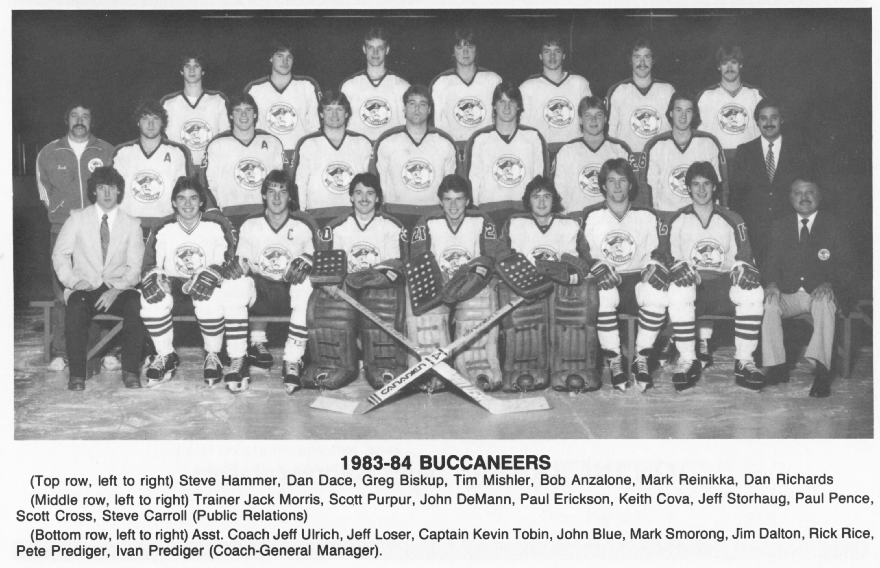 1983 1984 Buccaneers Home